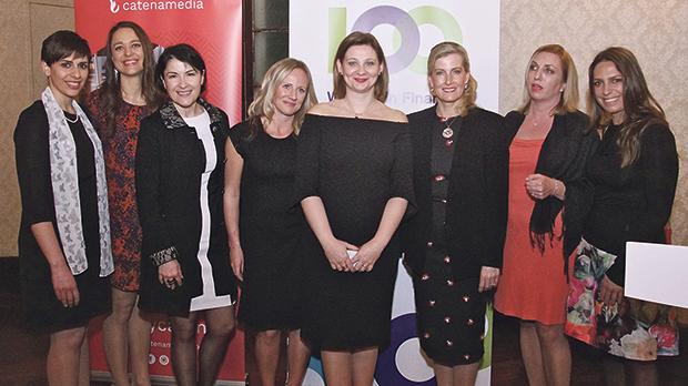 The Countess of Wessex, third from right, at one of the events held to celebrate International Women's Day in Malta.