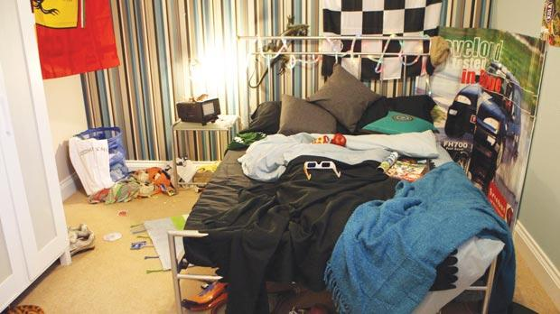. Messy bedrooms  hit house prices