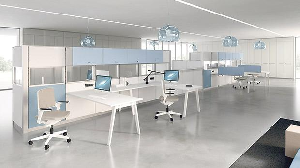 perfectly furnished work environments from della valentina