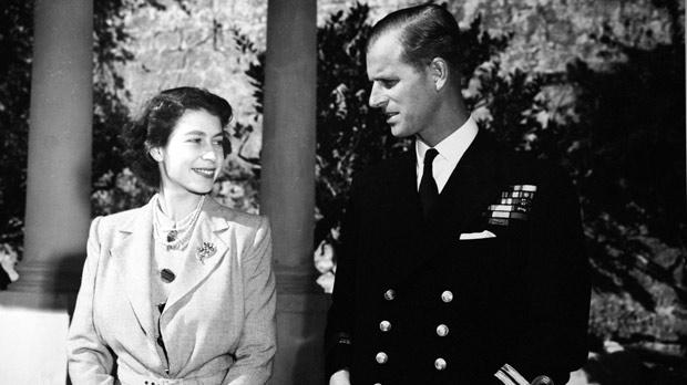 Princess Elizabeth and Prince Philip when they were living in Malta between 1949 and 1951.