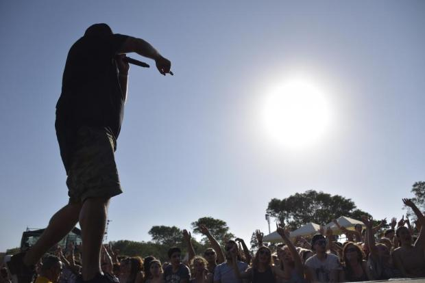 A DJ warms up the crowd at the Isle of MTV concert on the Granaries in Floriana on June 28. Photo: Mark Zammit Cordina