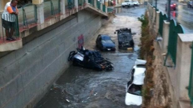 "Heavily damaged cars which were carried away by rainwater in Birkirkara - Picture Stephen Gauci - <a href=""mailto:mynews@timesofmalta.com"" target=""_blank"">mynews@timesofmalta.com</a>"