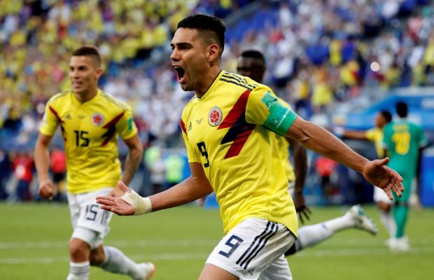 Radamel Falcao has been in great form for Colombia at the 2018 World Cup.