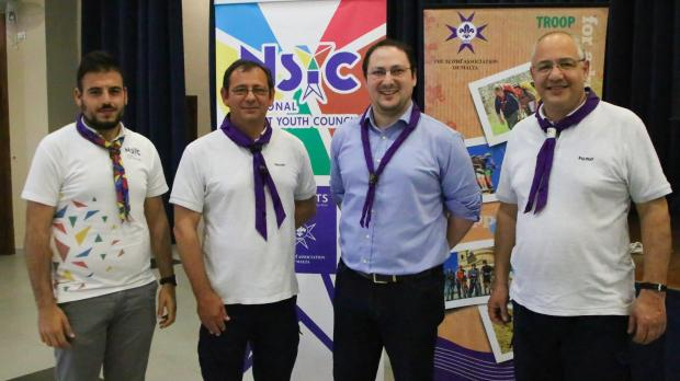 (From left) Sean Bartolo, National Scout Youth Council chairman, Leslie Bonnici – outgoing Chief Commissioner, Anton Pisani – Chief Commissioner, and George Cassar – Chief Scout.