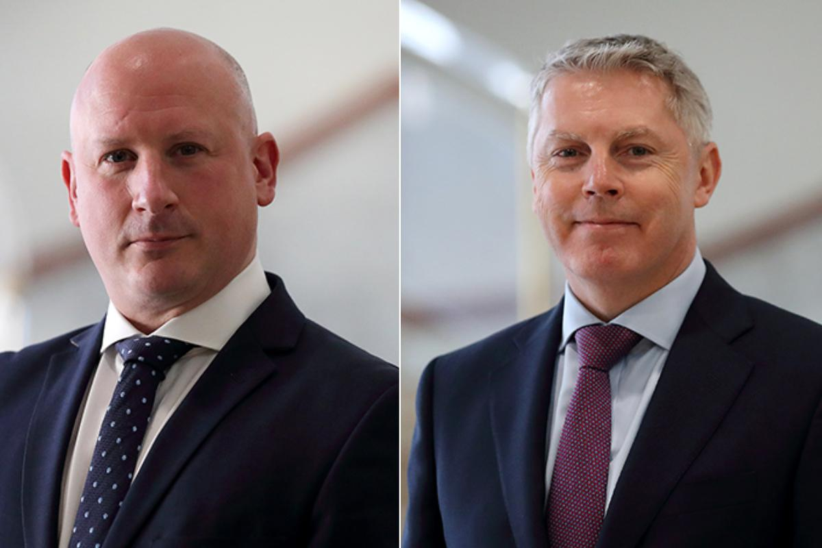 David Eacott (left) and Anthony Eddington have joined the MFSA from UK banks. Photo: MFSA