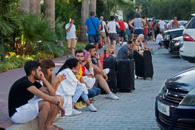 Blasts damage north Cyprus hotel, tourists evacuated