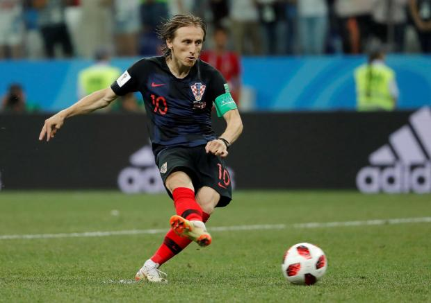 Luka Modric showed great nerves of steel to step up to take a penalty after missing one a few minutes earlier.