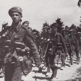 Scottish soldiers marching into battle at Loos. Photo: Purnell's History of the First World War