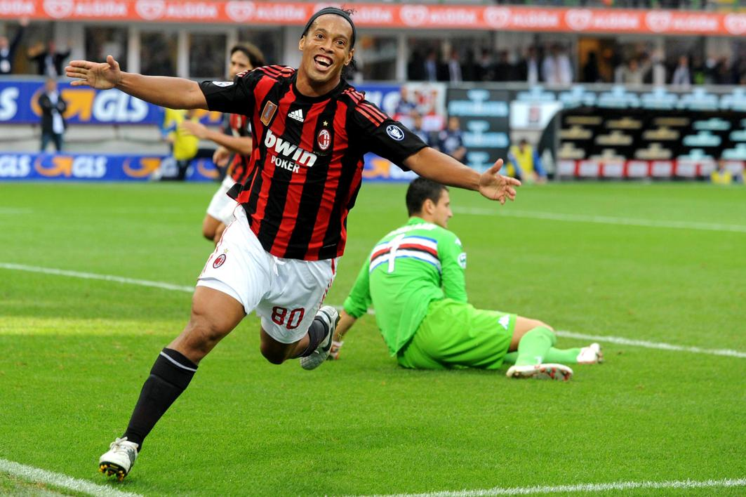 Ronaldinho in action for AC Milan in 2007. Photo: Shutterstock