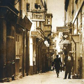 Strait Street, Valletta, where prostitutes were prohibited from residing by means of a government notice dated December 18, 1899.