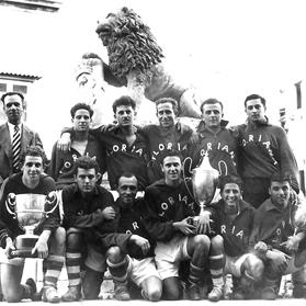 Floriana FC 1949-50 – league champions and Cassar Cup and FA Trophy winners.