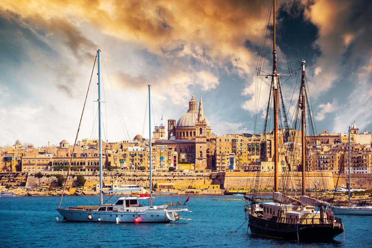 Valletta's Marsamxett: Cutajar and Farrugia are alleged to have received their brokerage fees in cash at a restaurant in the harbour. Photo: Shutterstock
