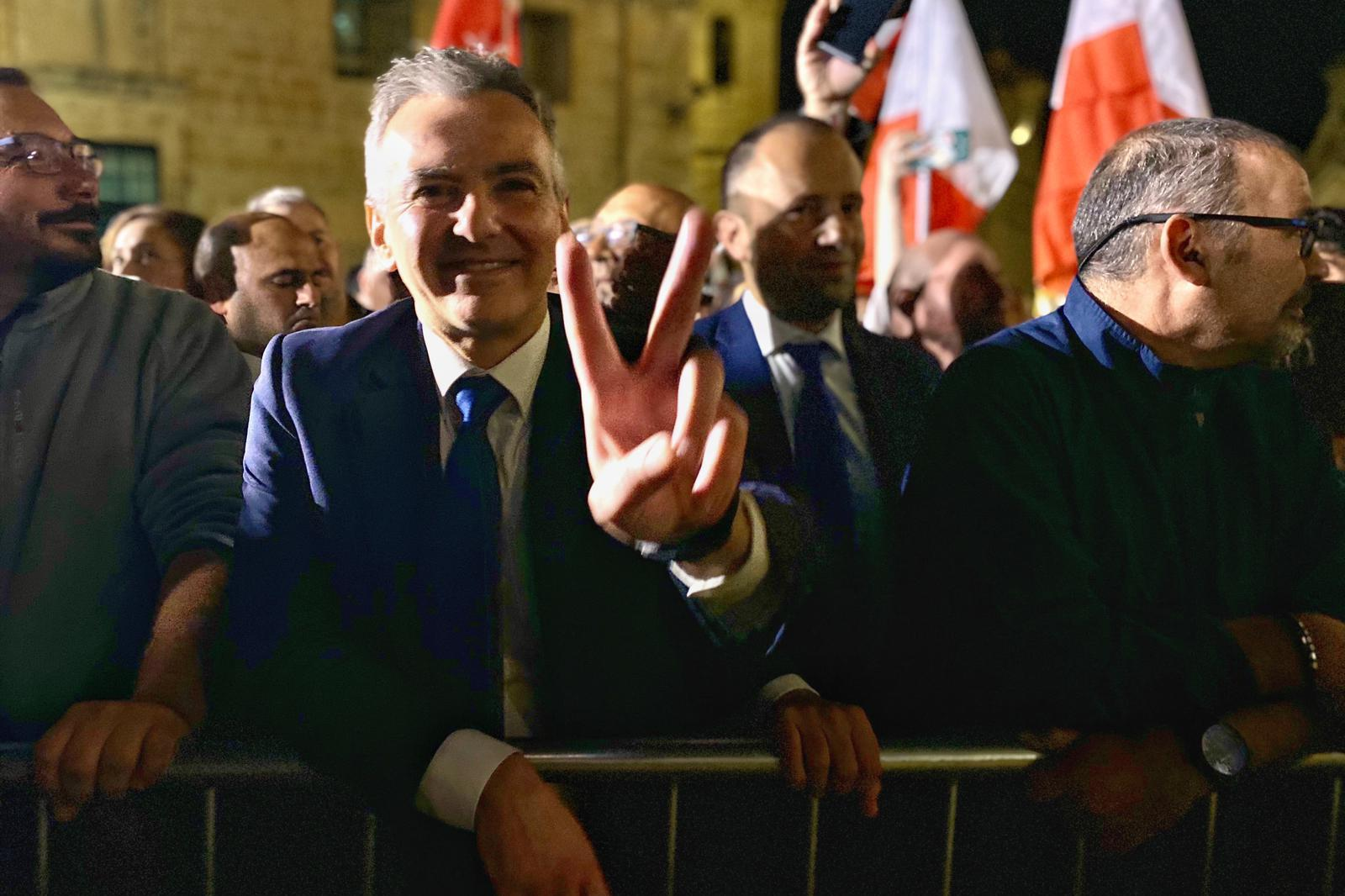 Simon Busuttil at a protest held last week.