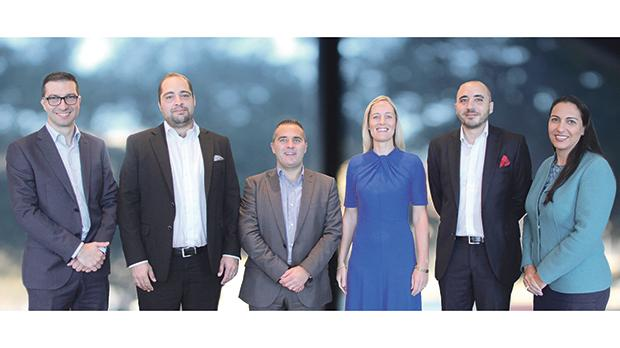 From left: Marco Vassallo, Simon Xuereb, Jonathan Dingli, Adrienne McCarthy, Mark Curmi and Vanessa Borg.