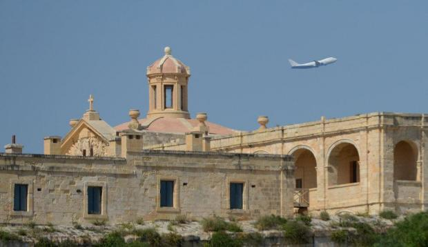 A Boeing 747 takes off from Malta International Airport on May 19. Photo: Matthew Mirabelli