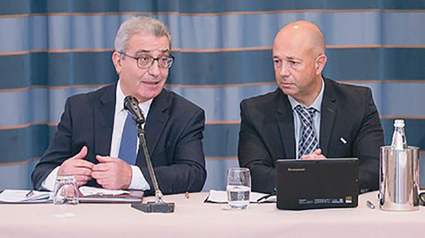 Education Minister Evarist Bartolo (left) with Mcast's Alex Rizzo.