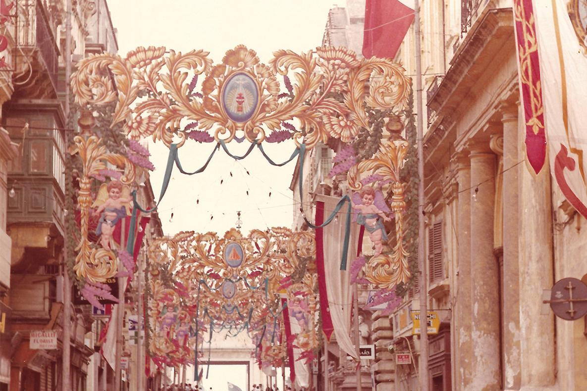 Republic Street, Valletta, in 1973.