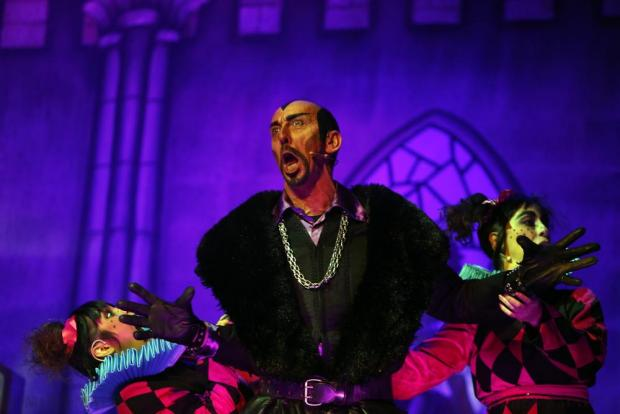 "Actor Stephen Oliver portrays the evil Sheriff in FM Production's pantomime ""Robin Hood and the Babes in the Woods"" at the Manoel Theatre in Valletta on December 21. Photo: Darrin Zammit Lupi"