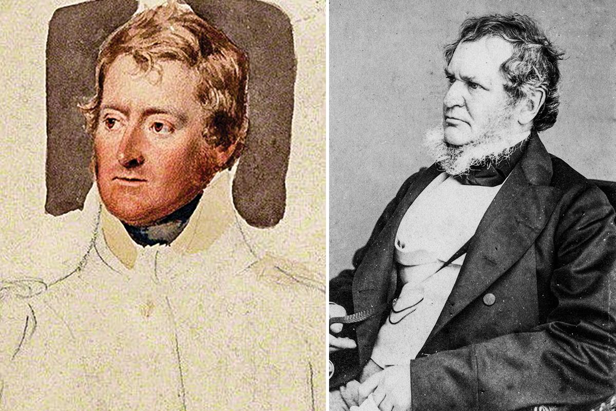 Major-General Sir Frederick Cavendish Ponsonby (1783-1837) (left) and Edward Smith-Stanley, Lord Stanley, 14th Earl of Derby (1799-1869) (right). The University of Valletta was reorganised in 1834 according to a plan sent by Sir Frederick in 1833 and approved by Lord Stanley, Secretary of State for the Colonies.