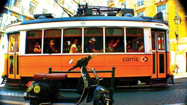 One of the city's old trams.