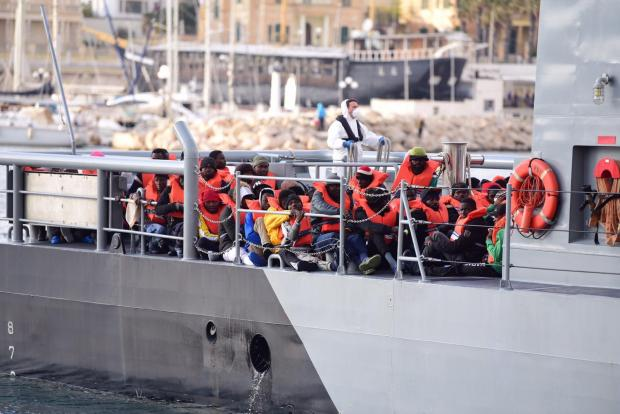 The migrants arrived after an 11-day ordeal. Photo: Mark Zammit Cordina