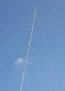 The wind monitoring mast at L-Aħrax tal-Mellieħa.