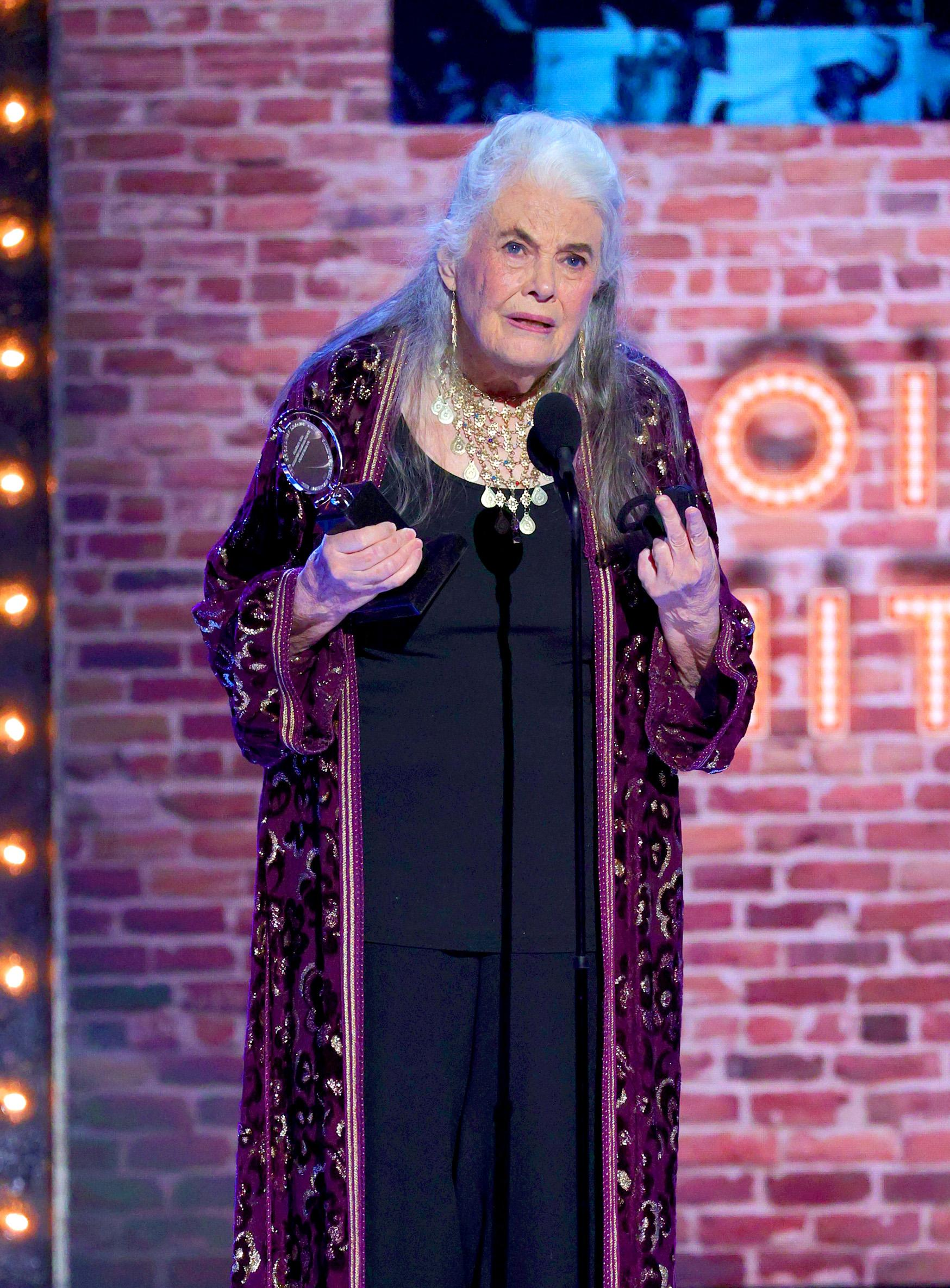 Lois Smith accepts the award for Best Performance by an Actress in a Featured Role in a Play for 'The Inheritance'.