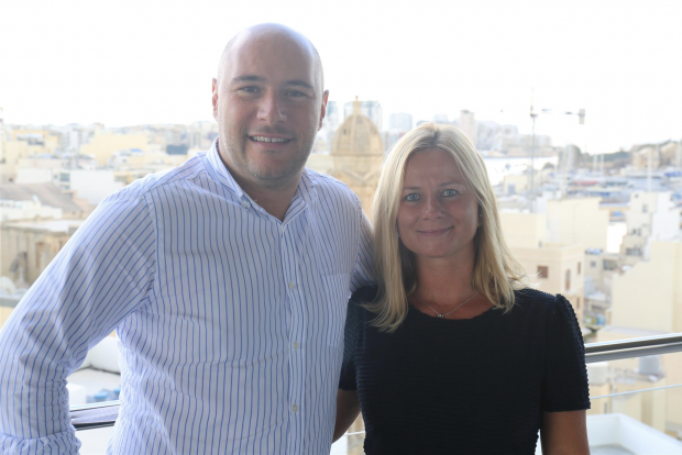 Beatrice Collet with Alexandre Dreyfus, CEO of chiliZ.