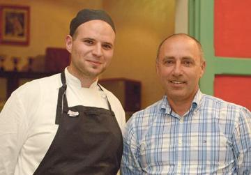 Chef Josef Baldacchino and food historian Noel Buttigieg.