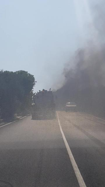Watch: No, this truck isn't on fire
