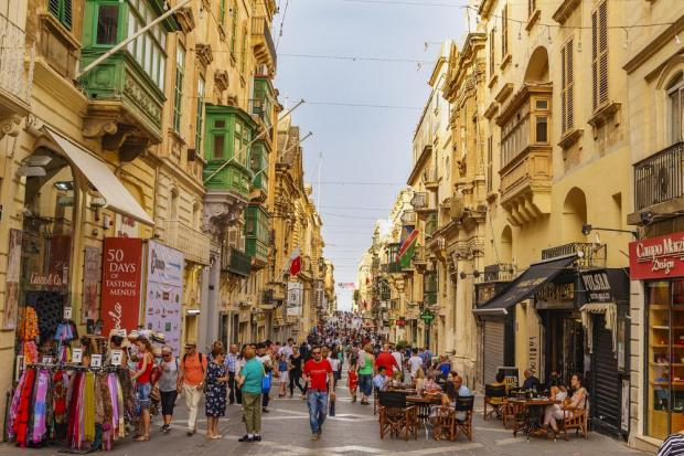 Valletta's Republic Street. Photo: Shutterstock