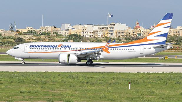 A Smartwings B737-800 MAX at Malta International Airport last October 24. Photo: Keith Pisani, Horizon.mt