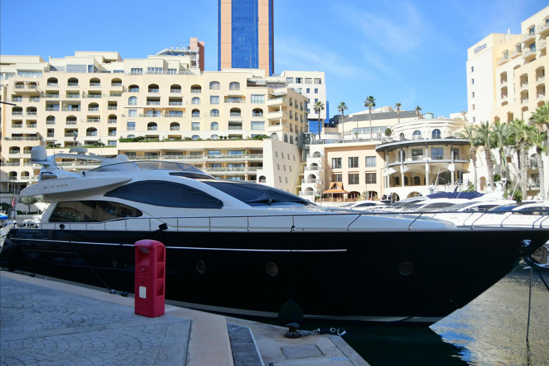 Yorgen Fenech's yacht the 'Gio 2' docked at Portomaso. Picture: Jonathan Borg