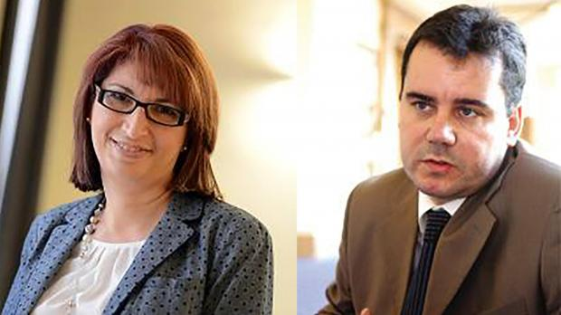 PN secretary general Rosette Thake (left) and corporate and business strategy head Brian St John (right).