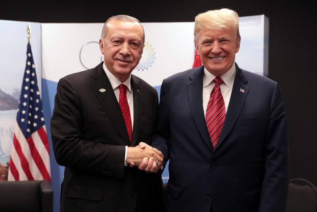 Erdogan and Trump pictured at the G20 summit.