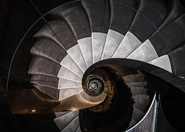Helical Stair, Mayfair, London. Design by the Maltese-English Mizzi Studio.