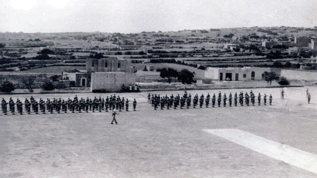 St Andrew's parade ground pre-World War II. Swieqi and Ta' l-Ibraġ were just fields. Photo: Kevin Borg