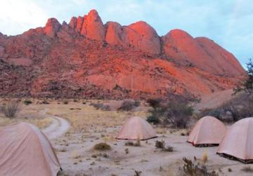 Bush camp at Spitzkoppe in Namibia.