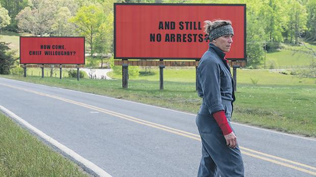 There's no stopping Frances McDormand's quest for justice in Three Billboards Outside Ebbing, Missouri.