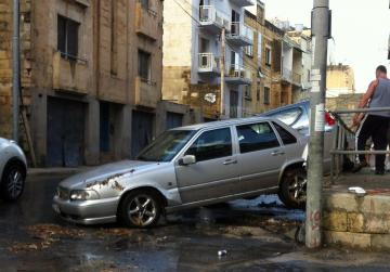 "More cars damaged in Birkirkara - Picture Gordon Camilleri - <a href=""mailto:mynews@timesofmalta.com"">mynews@timesofmalta.com</a>"