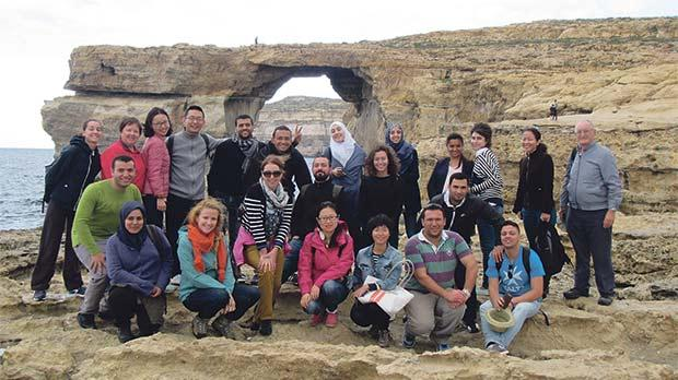 Last year's course participants during the Gozo field trip.