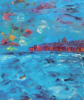 Boat under Valletta