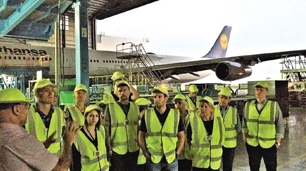 Strategy live case-study tour and review of operations at Lufthansa Technic Malta facilities – directed by  John Borg Costanzi, head of production.