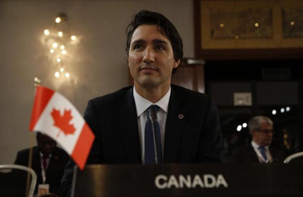 Canada's Prime Minister Justin Trudeau looks on at the start of the Climate Action Special Executive Session at the Commonwealth Heads of Government Meeting (CHOGM) at Golden Sands on November 27. Photo: Darrin Zammit Lupi