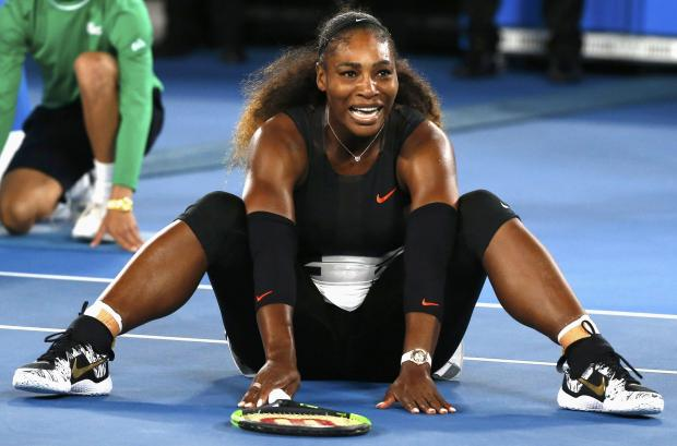 Serena Williams celebrates winning her Women's singles final match.