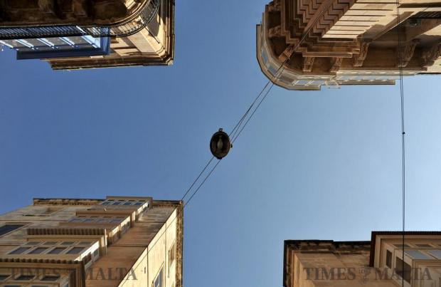 Four buildings at a Valletta cross road on February 15. Photo: Chris Sant Fournier