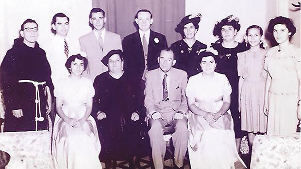 Many photographs come from the never-seen Mintoff archives. Seen here are old pictures of family members.