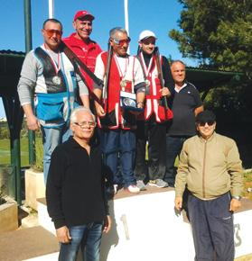 The podium at the end of yesterday's Trap trophy competition in Bidnija.