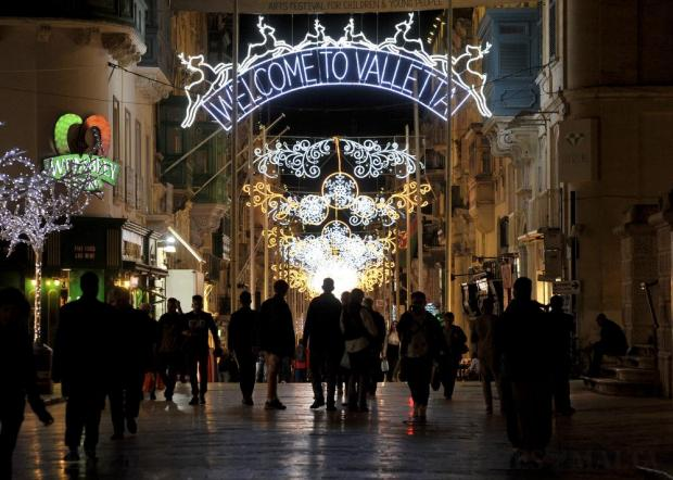 Christmas lights are switched on in Republic street Valletta on November 21. Photo: Chris Sant Fournier