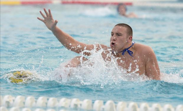 Malta's Matthew Zammit tries to regain procession of the ball during their European Water Polo Championship play-off match against Belarus at the National Pool in Tal Qroqq on March 3. Photo: Matthew Mirabelli